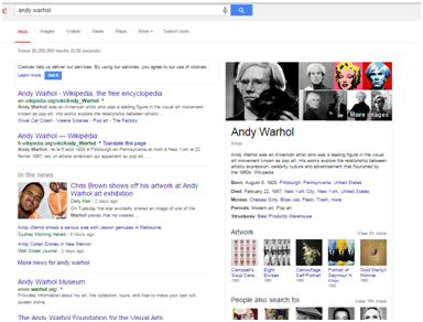 requete google andy warhol