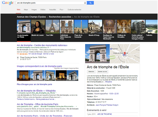 requete google arc de triomphe carroussel