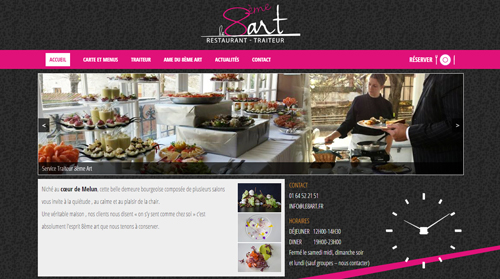 reference site web restaurant 8art