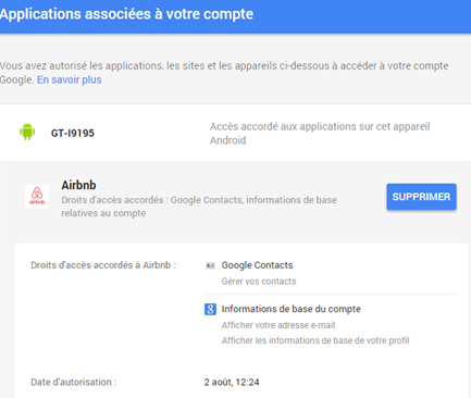 google-applications-associes