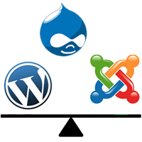 CMS: WordPress Vs Joomla Vs Drupal